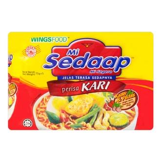 印尼MI SEDAAP喜达 咖喱风味面 五连包 365g