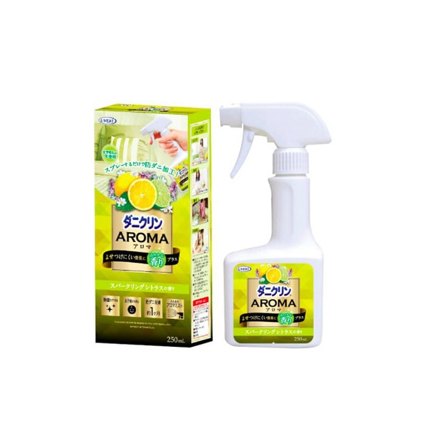 Product Detail - UYEKI  AROMA Dust Mite Repellent & Allergen Sterilization Spray 250ml CITRUS - image 0
