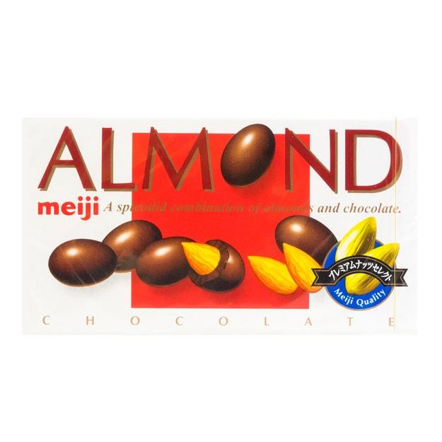 商品详情 - 日本MEIJI明治 ALMOND巴旦木巧克力 88g - image  0