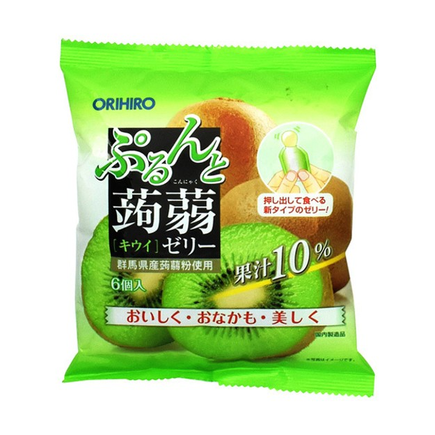 Product Detail - ORIHIRO Kiwi Flavour Konjac Jelly 6pcs - image  0