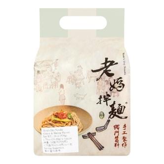 台湾老妈拌面  葱油开洋口味  4包入 539g  手工制作