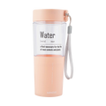 Miniso Simple Plastic Water Bottle 410 ml (Pink)