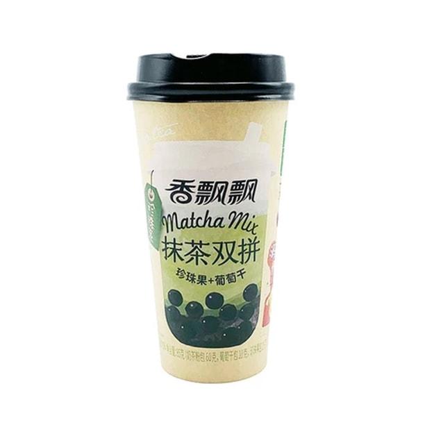 商品详情 - 香飘飘 抹茶双拼 (珍珠果+葡萄干)85g - image  0