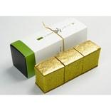 【日本直邮】日本名菓 金泽万久抹茶味金箔卡斯提拉蛋糕 1切装