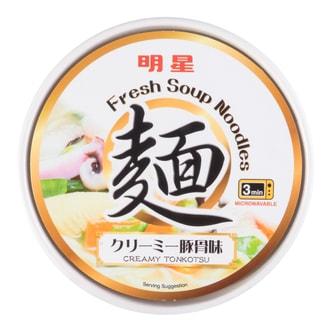 日本MYOJO明星 速食乌冬汤面 豚骨味 桶装 208g