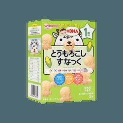 日本和光堂 宝宝DHA磨牙饼干 玉米饼干 12M+