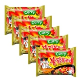 SAMYANG Korean Stir-Fried Hot Spicy Chicken Ramen Curry Flavor 5 bags
