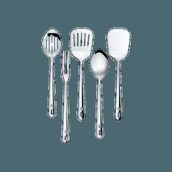 CONCORD 优质不锈钢厨房炊具镜面抛光锅铲套装 5件入 12.5寸长