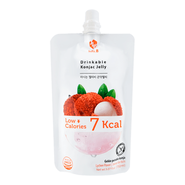 Jelly B. Konjac Drink Lychee Flavor Low Calories Drink 150ml