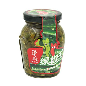 璞纯 绿椒王 220g 剁椒酱下饭菜蘸酱