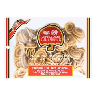 台湾新东阳 香脆伞饼 猫耳朵饼干 200g 童年回忆