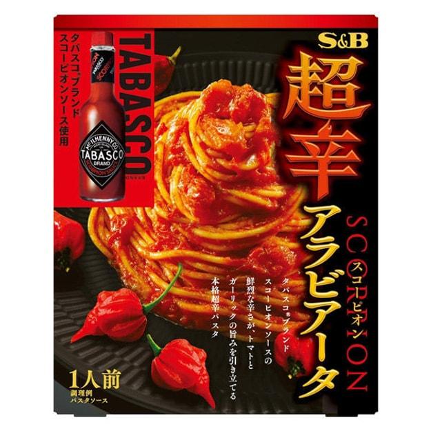 商品详情 - 【日本直邮】S&B SCORPION 香辣茄酱直通粉 意面酱 超辣 132g - image  0