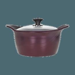 CONCORD PurpleChef 7Qt. 双耳不粘汤锅 含玻璃盖 电磁炉适用 圣诞新年情人节七夕父亲节母亲节礼物
