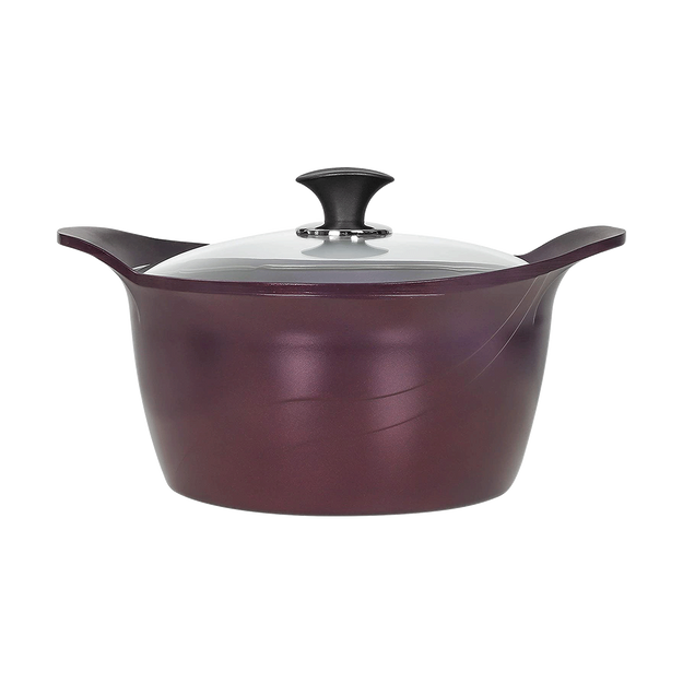 Product Detail - CONCORD PurpleChef  7 Quart Nonstick Stock Pot with Lid - INDUCTION COMPATIBLE - image 0