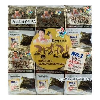 韩国KC 即食海苔 12包入 48g