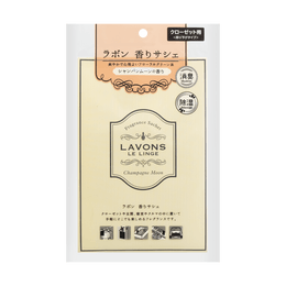 LAVONS LE LINGE Fabric and Household Refresher Fragrance Packet Deodorizer Champagne Moon 20g