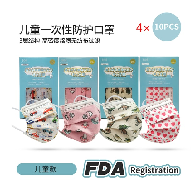 Product Detail - Merry Life 10Pcs ×4  Disposable Ear-loop Face Mask for kids - image 0