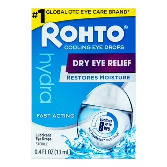 日本ROHTO乐敦 HYDRA缓解眼部干涩水润眼药水 13ml