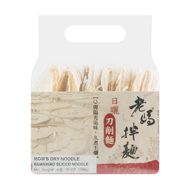 Product Detail - Mom\'s Dry Noodle Guanmiao Sliced Noodle 4Pack 288g - image 0