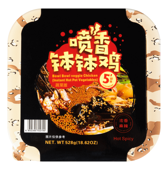 与美 喷香钵钵鸡 蔬菜版 浓香麻辣味 528g