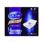 【日本直邮】日本UNICHARM尤妮佳 1/2省水超吸收化妆棉 40枚入 COSME大赏第一位