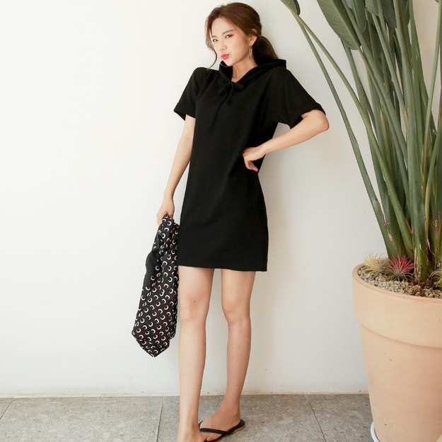 Product Detail - SSUMPARTY Hoodie Dress #Black One Size(S-M) - image 0