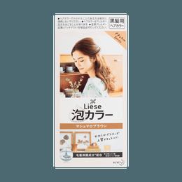 日本KAO花王 LIESE PRETTIA 泡沫染发剂 #棉花糖棕色 单组入