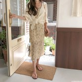 【韩国直邮】CHERRYKOKO Thin cotton cardigan ivory free