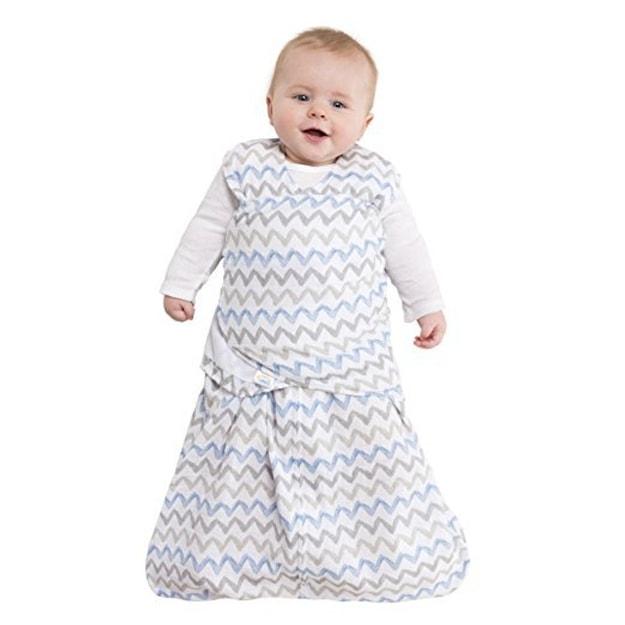 2257943ee6 HALO 100% Cotton Muslin Sleepsack Swaddle Wearable Blanket Blue Grey Zig  Zag --SMALL - Yamibuy.com