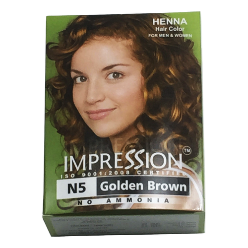 Impression Henna Hair Color N5 Goldenbrown 6 Packs Box Yamibuy Com