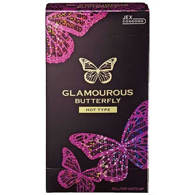 Product Detail - JEX Glamourous Butterfly Condom Hot 1000 12pcs - image  0