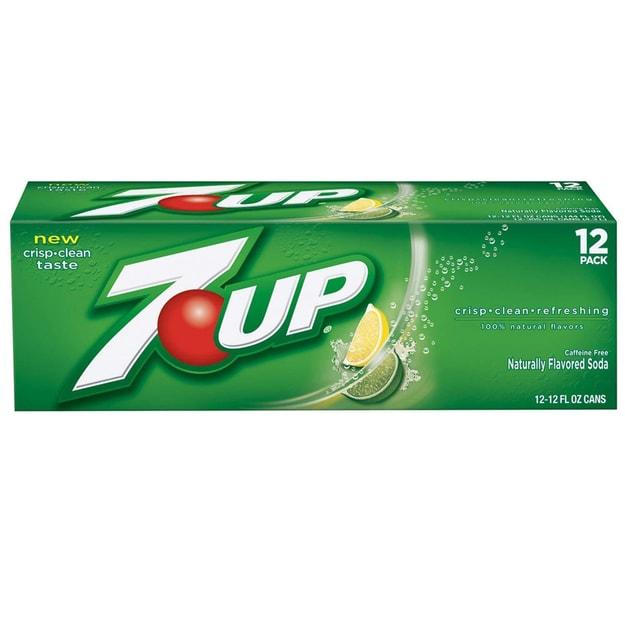 商品详情 - 七喜 柠檬味汽水 12罐 12x12oz - image  0