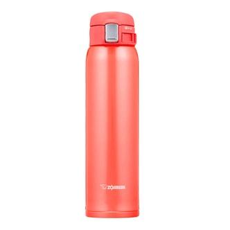 日本ZOJIRUSHI象印 一键式不锈钢真空保温保冷杯 #珊瑚粉红色 600ml SM-SC60PV