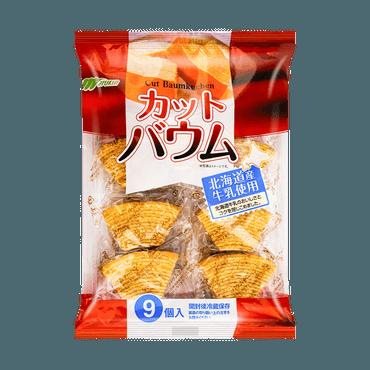 日本MARUKIN丸金 北海道牛乳 厚切年轮蛋糕 9枚入 225g