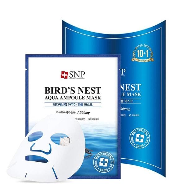 Product Detail - SNP Bird's Nest Aqua Ampoule Mask 10 sheets - image 0