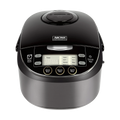 Multi-Function Digital Display Rice Cooker, 12 Cup Cooked Rice, Steamer, Cake Maker, Slow Cooker, ARC-6106AB, Black