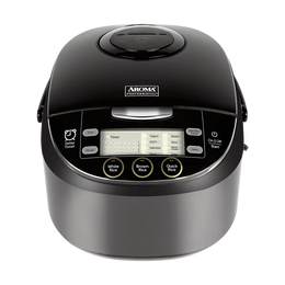 AROMA Multi-Function Digital Display Rice Cooker 12 Cup Cooked Rice ARC-6106AB  (5 Year Mfg Warranty)