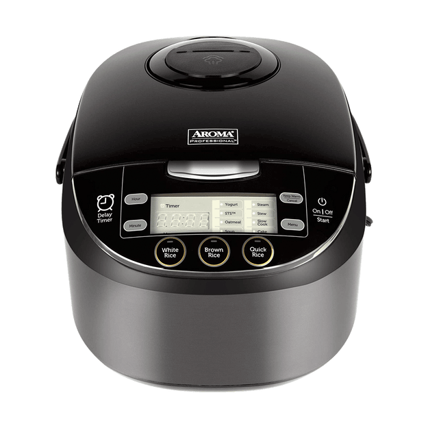 Product Detail - Multi-Function Digital Display Rice Cooker, 12 Cup Cooked Rice, Steamer, Cake Maker, Slow Cooker, ARC-6106AB, Black - image  0