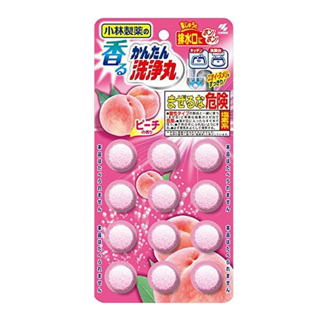 KOBAYASHI Easy Cleaning #Peach 12tablets