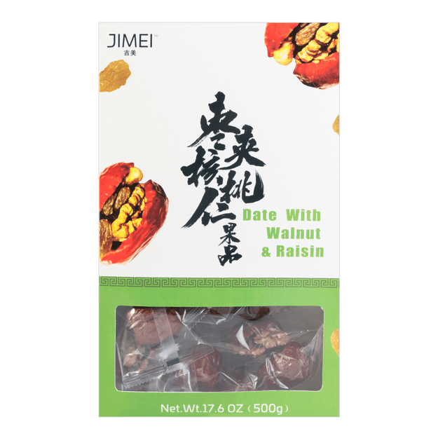 Product Detail - JIMEI Five Date With Walnut & Raisin 500g - image 0