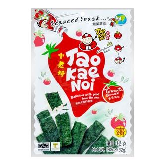泰国小老板 厚片脆海苔 番茄味 32g
