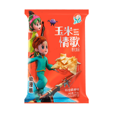 XIAOWANGZI Corn Love Song Corn Chips Spicy Flavor  75g