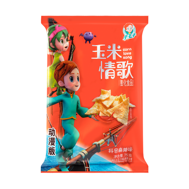 Product Detail - XIAOWANGZI Corn Love Song Corn Chips Spicy Flavor  75g - image 0