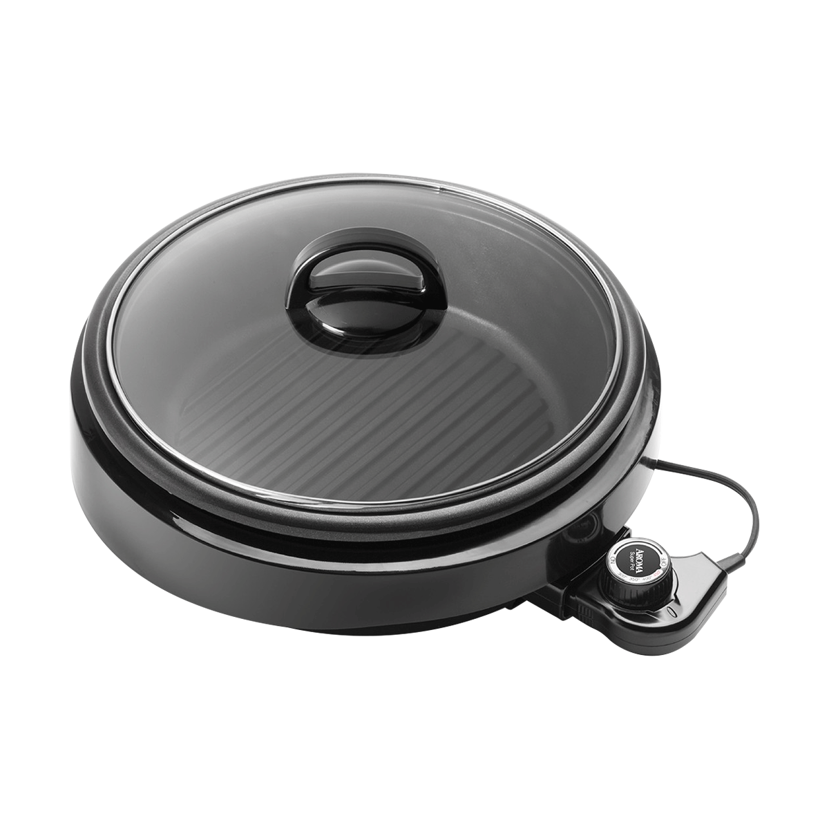Yamibuy.com:Customer reviews:AROMA 3 in 1 Hot Pot With Grillet Plate ASP-137B 3QT #Black (2 Year Mfgr Warranty)