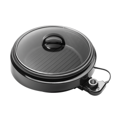 AROMA 3 in 1 Hot Pot With Grillet Plate ASP-137B 3QT #Black (2 Year Mfgr Warranty)