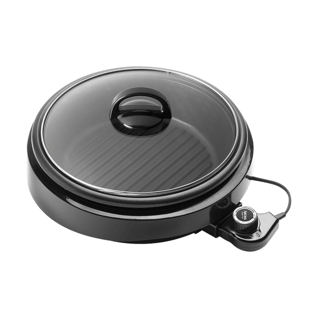 Product Detail - AROMA 3 in 1 Hot Pot With Grillet Plate ASP-137B 3QT #Black (2 Year Mfgr Warranty) - image 0