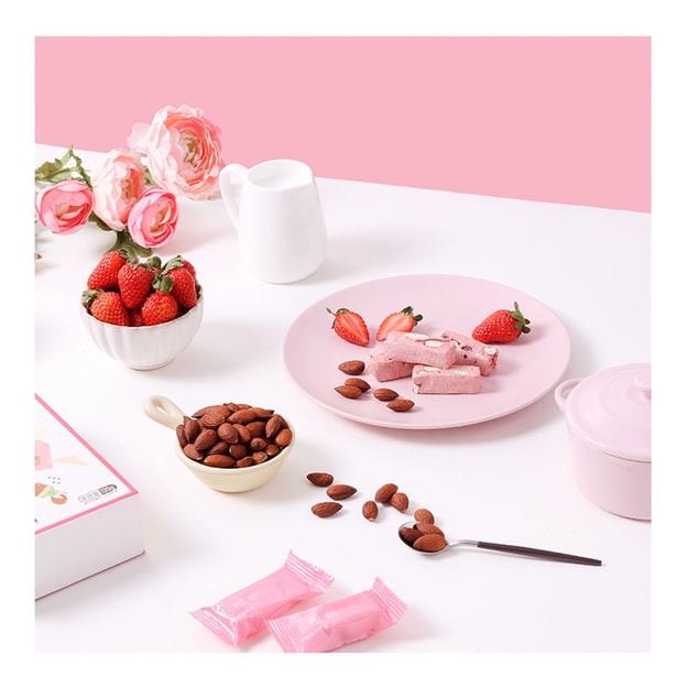 Product Detail - [China Direct Mail] Nougat Box  Niu Zhuang Toffee Taiwan Flavored Strawberry Fudge Candy Net Candy 120g - image 0