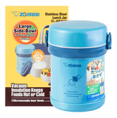 ZOJIRUSHI Ms. Bento® Stainless Lunch Jar #AQUA BLUE 0.6L SL-MEE07