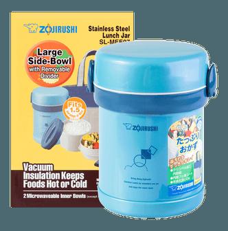 ZOJIRUSHI Ms. Bento® Stainless Lunch Jar #AQUA BLUE 0.6L SL-MEE07