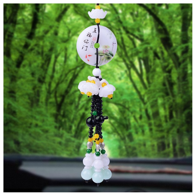 Product Detail - RAMBLE Car Pendant Cute Rearview Mirror Hanging Gourd Cartoon Automobile Interior Decoration Ornament WFLM 1 pcs - image 0